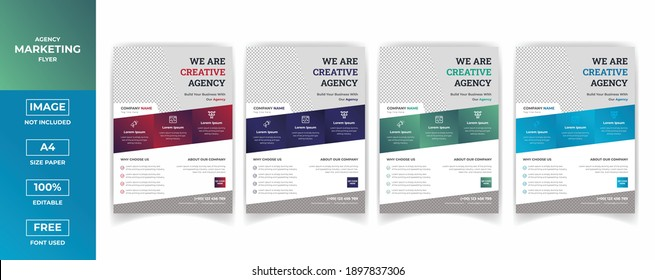 Professional modern Creative Corporate  Digital Marketing  Flyer