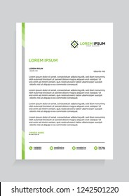Professional and Modern Letterhead Vector