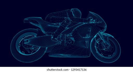 professional motorcyclist racing on a moto GP championship