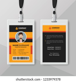 Professional office ID card design template