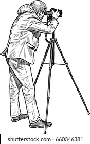 a professional photographer shooting