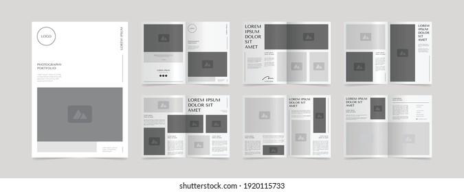 professional photography portfolio magazine design template