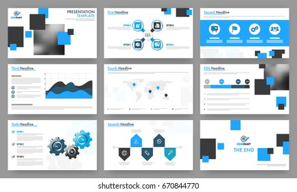 infographic presentation slide templates business vector stock