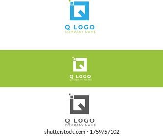 professional q letter logo design template , q letter logo