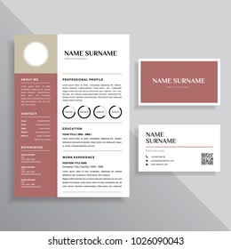 professional resume cv and business card template design