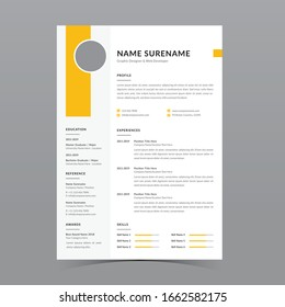 Professional Resume Template Vector Design