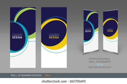 Professional Roll Up Concept Template for Business Purpose, Place Your Products and Ready To GO For Print.