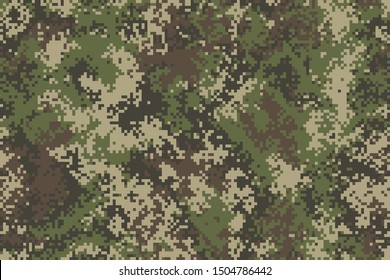 Professional seamless pixel summer camouflage for your production or design. Vector illustration.