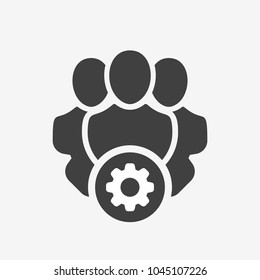 Professional services icon with settings sign. Professional services icon and customize, setup, manage, process symbol. Icon, professional, manager, customize, vector, business, businessmen, cog, coll