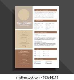 Professional And Simple Resume CV Template Design