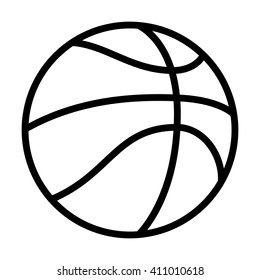 Professional / street basketball line art vector icon for apps and websites