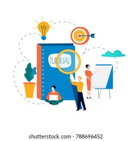 Professional training, education, tutorials, business courses, specialization vector illustration. Expertise, skill development design for mobile and web graphics