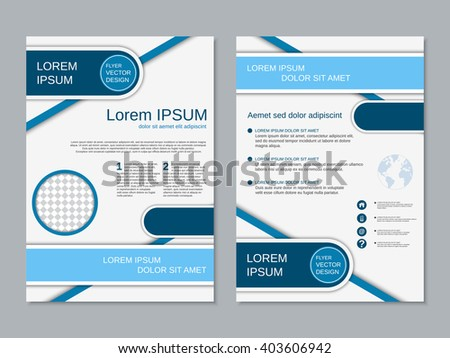 professional twosided booklet vector design flyer stock vector
