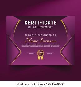 Professional and unique premium certificate