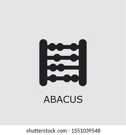 Professional vector abacus icon. Abacus symbol that can be used for any platform and purpose. High quality abacus illustration.