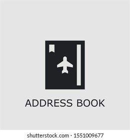 Professional vector address book icon. Address book symbol that can be used for any platform and purpose. High quality address book illustration.