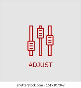 Professional vector adjust icon. Adjust symbol that can be used for any platform and purpose. High quality adjust illustration.