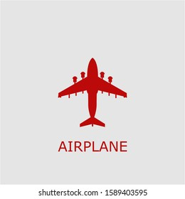 Professional vector airplane icon. Airplane symbol that can be used for any platform and purpose. High quality airplane illustration.