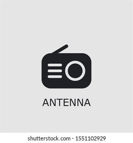 Professional vector antenna icon. Antenna symbol that can be used for any platform and purpose. High quality antenna illustration.
