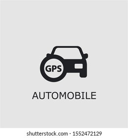 Professional vector automobile icon. Automobile symbol that can be used for any platform and purpose. High quality automobile illustration.