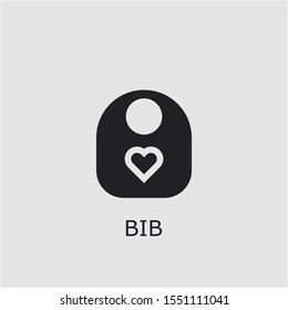 Professional vector bib icon. Bib symbol that can be used for any platform and purpose. High quality bib illustration.