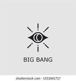 Professional vector big bang icon. Big bang symbol that can be used for any platform and purpose. High quality big bang illustration.