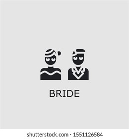 Professional vector bride icon. Bride symbol that can be used for any platform and purpose. High quality bride illustration.