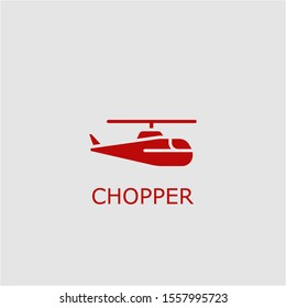Professional vector chopper icon. Chopper symbol that can be used for any platform and purpose. High quality chopper illustration.
