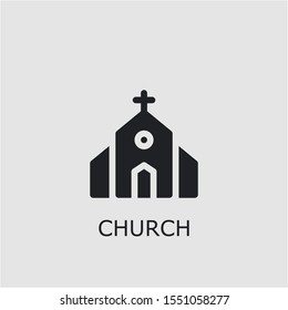 Professional vector church icon. Church symbol that can be used for any platform and purpose. High quality church illustration.