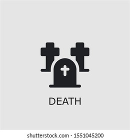Professional vector death icon. Death symbol that can be used for any platform and purpose. High quality death illustration.