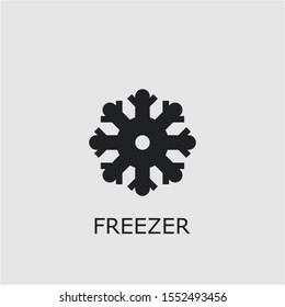 Professional vector freezer icon. Freezer symbol that can be used for any platform and purpose. High quality freezer illustration.