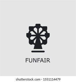 Professional vector funfair icon. Funfair symbol that can be used for any platform and purpose. High quality funfair illustration.