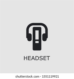 Professional vector headset icon. Headset symbol that can be used for any platform and purpose. High quality headset illustration.
