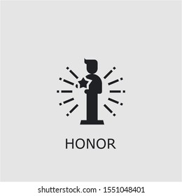 Professional vector honor icon. Honor symbol that can be used for any platform and purpose. High quality honor illustration.