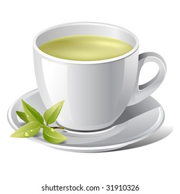 professional vector illustration of tea cup