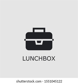 Professional vector lunchbox icon. Lunchbox symbol that can be used for any platform and purpose. High quality lunchbox illustration.