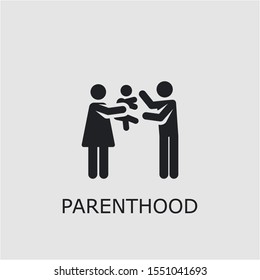 Professional vector parenthood icon. Parenthood symbol that can be used for any platform and purpose. High quality parenthood illustration.