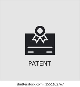 Professional vector patent icon. Patent symbol that can be used for any platform and purpose. High quality patent illustration.