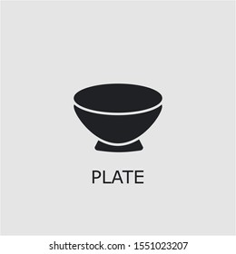 Professional vector plate icon. Plate symbol that can be used for any platform and purpose. High quality plate illustration.