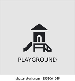 Professional vector playground icon. Playground symbol that can be used for any platform and purpose. High quality playground illustration.