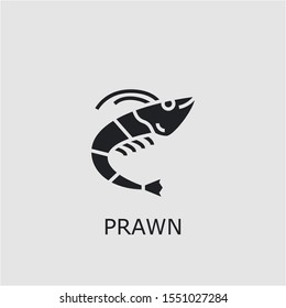 Professional vector prawn icon. Prawn symbol that can be used for any platform and purpose. High quality prawn illustration.