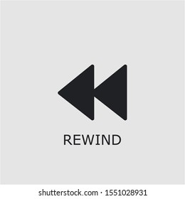 Professional vector rewind icon. Rewind symbol that can be used for any platform and purpose. High quality rewind illustration.