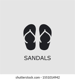 Professional vector sandals icon. Sandals symbol that can be used for any platform and purpose. High quality sandals illustration.
