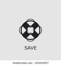 Professional vector save icon. Save symbol that can be used for any platform and purpose. High quality save illustration.