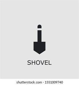 Professional vector shovel icon. Shovel symbol that can be used for any platform and purpose. High quality shovel illustration.