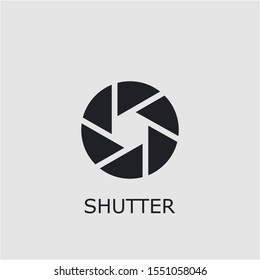 Professional vector shutter icon. Shutter symbol that can be used for any platform and purpose. High quality shutter illustration.