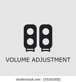 Professional vector volume adjustment icon. Volume adjustment symbol that can be used for any platform and purpose. High quality volume adjustment illustration.