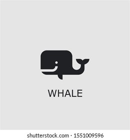 Professional vector whale icon. Whale symbol that can be used for any platform and purpose. High quality whale illustration.