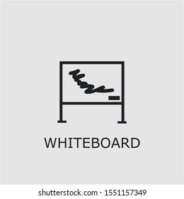 Professional vector whiteboard icon. Whiteboard symbol that can be used for any platform and purpose. High quality whiteboard illustration.