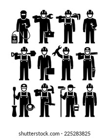 Professional Workers Vector Figure Pictogram icons